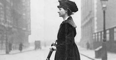 Yes, she is a suffragette, and yes, that is her scooter. Lady Florence Norman buzzed around London on this Autoped.