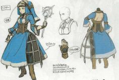 Concept artwork of the Cleric class from Fire Emblem Awakening.