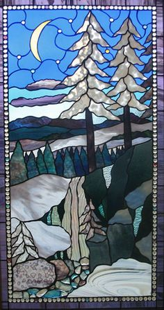 Another beautiful stained glass window for the mountains.