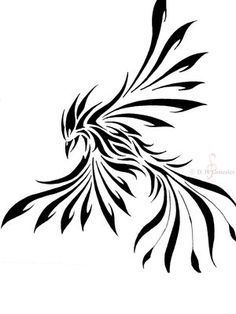 a phoenix tattoo design I did last yr. tribal-ish style I have more tattoo designs coming up ------------ Feel free to use this, all I ask for is credit for the design given to me (and link back . Tribal Tattoos, Tribal Phoenix Tattoo, Phoenix Tattoo Design, Tribal Tattoo Designs, Celtic Tattoos, Finger Tattoos, Body Art Tattoos, Tatoos, Sexy Tattoos