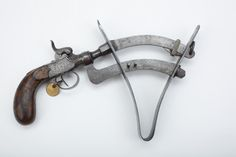 """Percussion Eprouvette – Making up a load for early firearms wasn't a strictly """"hit or miss"""" proposition, as our GOTD reveals. Seen in flintlock as well as percussion formats, the powder tester (or eprovette) allowed a sample of blackpowder to be fired, with a handy moveable scale to measure just how much pressure was created.  It could also disclose if your blackpowder sample was sub-par for performance, maybe due to wetness."""