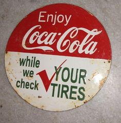 vintage coke signs | OLD VINTAGE ENAMEL PORCELAIN ENJOY COCA COLA SIGN in Collectibles ...