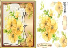 Beautiful Yellow Roses Ona Envelope Frame  on Craftsuprint designed by Ceredwyn…