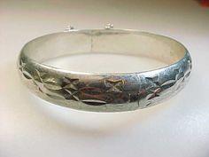 STERLING Vintage BANGLE BRACELET - 17.8 grams   quadrina - Jewelry on ArtFire