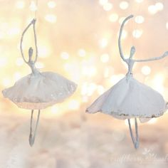 Make these dainty little ballerina and watch them dance the night away to the sparkle of your Christmas tree.