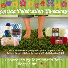 Lion Brand and Moogly Spring Celebration Giveaway! Lion Brand and Moogly: a great combination to keep your mind and body busy. Lion Yarn, Lion Brand Yarn, Crochet Projects, Craft Projects, Yarn Inspiration, Cute Crochet, Yarn Crafts, So Little Time, Have Time