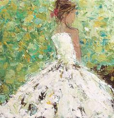Spring Garden by Holly Irwin | dk Gallery | Marietta, GA | SOLD