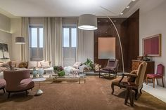 Abajur de chão grande como luminárias para sala em projeto