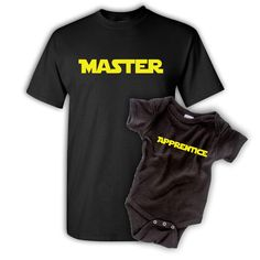 Master Apprentice, Father Son T-Shirt Set