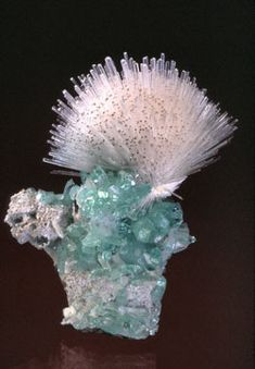 Seriously, can you believe this came out of the earth like this?!! Crazy. ~Natrolite et Apophyllite.