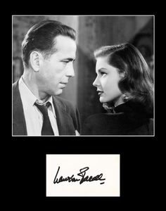 Hollywood Legend Lauren Bacall Signed Autograph and Photo Framed Matted