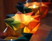 6 Mini Rainbow  Star Lanterns