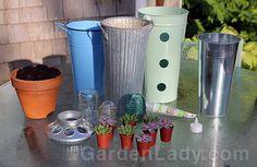GardenLady.com   Make a Garden Lighthouse