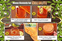 Cayenne Pepper Ginger Lemon Drink Cellulite Remedy