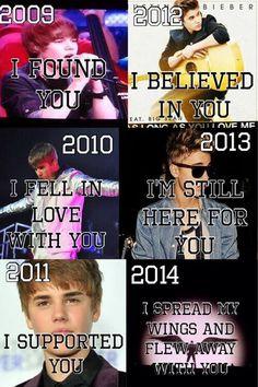 2009 til 2014 #justinbieber