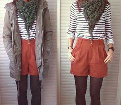 DIY shorts from vintage pants