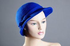 Gorgeous Retro Royal Blue Hat by VampVintageWear on Etsy