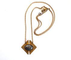 Diamond Pyrite Necklace