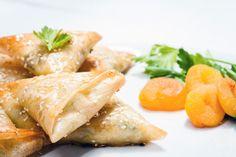 Samoussas au poulet et abricots secs