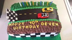 Drag Racing cake I made this week