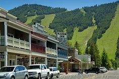 Jackson Hole, Wyoming is at the base of the Grand Tetons.  The historic downtown has an upscale western feel. Check out the great cowboy bars.