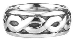 Sterling Silver Ladies Celtic Band at Claddaghrings.com