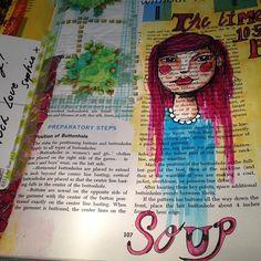 Courtney Brook - Little Raven Ink Art Journal Pages Blogged : www.ravenscauldron.blogspot.com.au