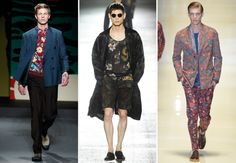 TREND Masculine floral—floral prints dominated the runway this season, from Hawaiian to dark and broody. Fellas, it's time to embrace the floral print.