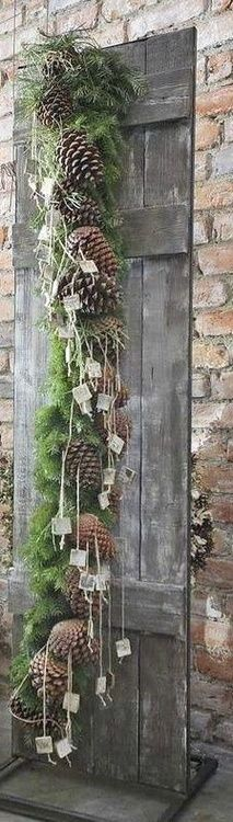 Rustic Shutter with natural garland. ZsaZsa Bellagio: Holiday Cheer