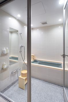 6. In the bathroom, they've taken inspiration from the nearby hot springs, and included a Furo (or Ofuro), a deep Japanese soaking tub.