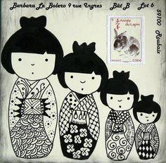 kokeshi mail art