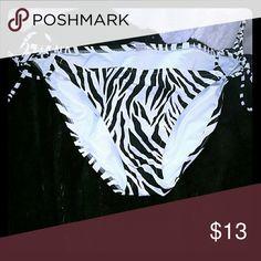 VS bikini bottom Victoria's Secret zebra bikini bottom, great cond Victoria's Secret Swim Bikinis