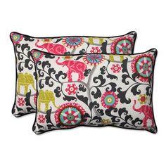 Outdoor Menagerie Spectrum Over-sized Rectangular Throw Pillow, Set of 2