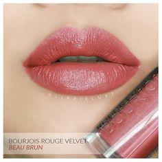Bourjois Rouge Velvet Edition No. 12: Beau Brun. _ i use ring light to create…