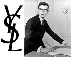 YSL-logo-and-portraint-of-Yves-Saint-Laurent
