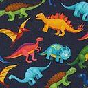 Bavlněný žerzej Dinosauři   by Poppy – šedá - Bavlněný žerzej- latka.cz Poppy, Poppies