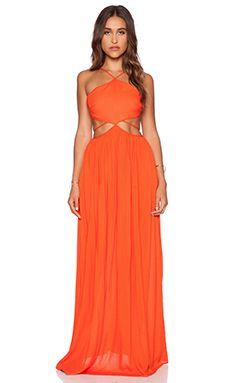 THE JETSET DIARIES Carnivale Maxi Dress in Mandarin