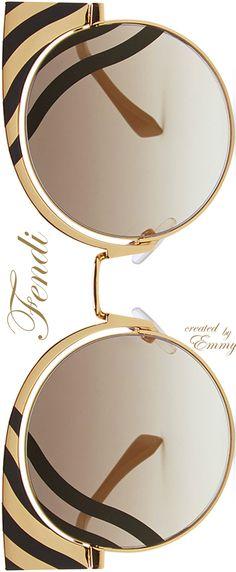 65ab983d791 ♢Fendi  Hypnoshine  gold-finish metal sunglasses Fendi Sunglasses 2017