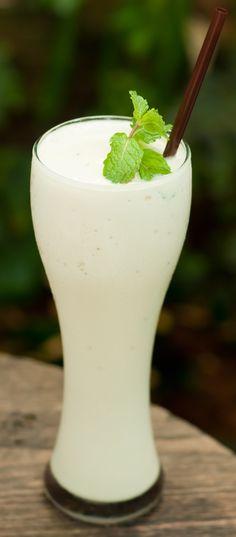 Un smoothie de coco para el calor...