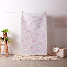 Sweet Pink Skulls Circles Fabric