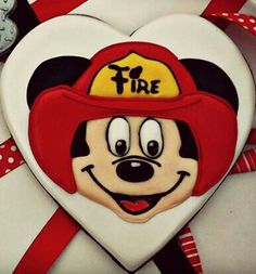 Firefighter Mickey (Heart Cookie Cutter)