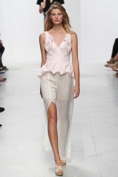 Chalayan Spring 2014 Ready-to-Wear. I can see this is bridal attire for a beach wedding.  Sheer skirt over shorts!