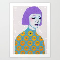 The Observer Art Print by Natalie Foss | Society6