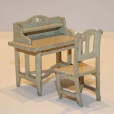 cardbord doll houses | Antique Dolls House Furniture / Antique Dollhouse Bed Room in Pressed ...