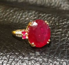 Ruby Engagement Ring Etsy listing at https://www.etsy.com/listing/168830273/ruby-ring-huge-950-carat-ruby-14k-gold