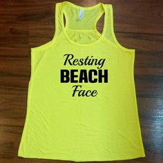Resting Beach Face tank top - light weight, high quality, funny tank top for the beach or the gym