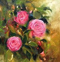 A Friend's Gift by Sheila Swanson Oil ~ 12 x 12