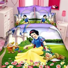 Cheap princess girls bedding set, Buy Quality bedding sets duvet directly from China bedding set Suppliers: Disney snow princess girls bedding set duvet cover bed sheet pillow cases twin single size