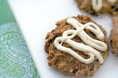Gluten-Free Pumpkin Quinoa Cookies with Nutmeg Icing
