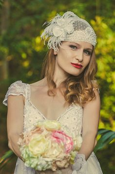 Cap white veil for wedding  renaissance lace lace by Luanakeylla, $240.00